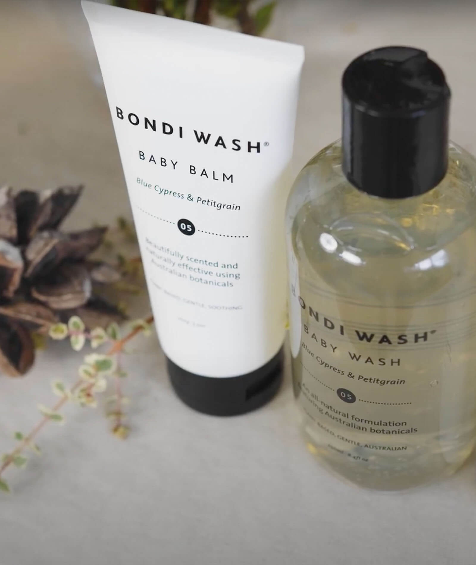 TWENTYTWONOTES Bondi Wash_Baby Balm Blue Cypress & Petitgrain range